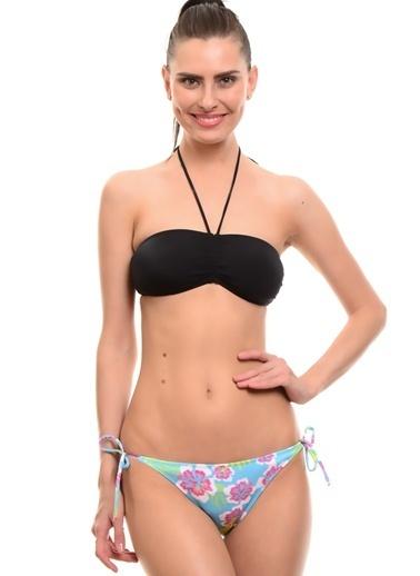 T-Box TBox ÇiÇekli Kadın Bikini Takım Mavi